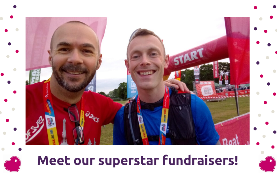 David and Darren raise £2,390 for Pepper
