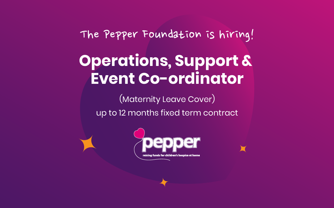 We're hiring! Operations, Support & Event Co-ordinator (Mat Cover)